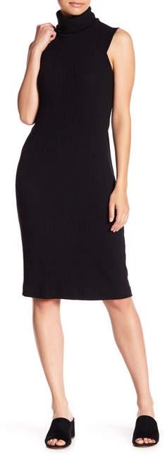 Splendid Slouch Mock Neck Ribbed Knit Dress