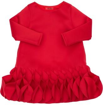 Nikolia Neoprene Party Dress W/ Ruffles