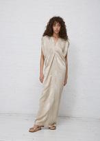 Zero Maria Cornejo champagne jacquard long issa dress
