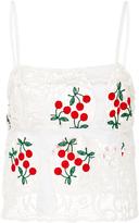 Brock Collection Spaghetti Cherry Lace Strap Talia Top