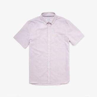 Lacoste Men's Regular- Fit Checkered Cotton Shirt