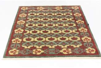 Schiff Canora Grey One-of-a-Kind Hand-Woven Wool Ivory/Rust Area Rug Canora Grey