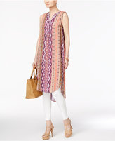 Cable & Gauge Geo-Print High-Low Tunic