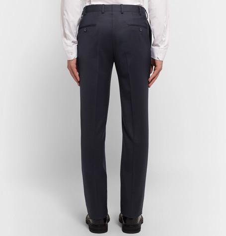 Lanvin Blue Slim-Fit Wool and Cashmere-Blend Suit