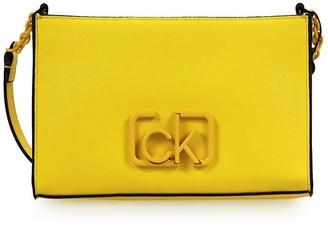 Calvin Klein Yellow Logo Crossbody Bag