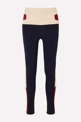 Live The Process Cosmic Color-block Stretch-supplex Leggings - Navy