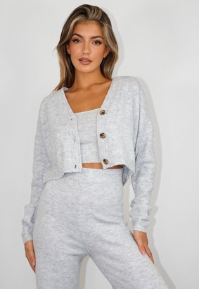 Missguided Recycled Tall Grey Co Ord Knit Cardigan