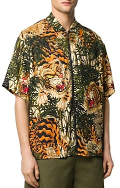 DSQUARED2 Tiger Print Slim-Fit Shirt