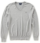 Polo Ralph Lauren Solid Cotton V-Neck Sweater