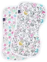 Bebe Au Lait Print 2-Pack Muslin Burp Cloth Set