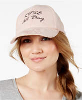Steve Madden Rosé Day Faux-Suede Baseball Cap
