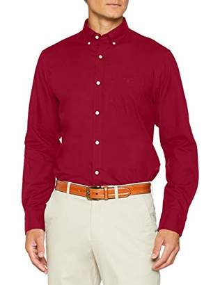 Gant Men's O1. Winter Twill REG BD Sport Shirt, Red Wine, Large (Size: L)