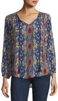 Tolani Janessa Ikat-Print Silk Tunic