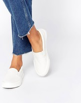 Missguided Croc Effect Slip On Plimsol