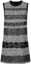 Giambattista Valli tweed and lace panelled dress