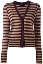 Rochas striped long sleeve cardigan