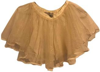 Christian Dior Beige Silk Skirts