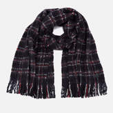 Superdry Women's Super Orkney Scarf - Grindle Check Navy