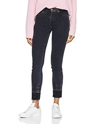 BOSS Women's J11 Murietta Straight Jeans, (Dark Grey 027), W25