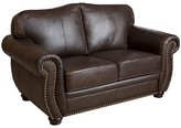 Marlow Abbyson Living Loveseat Leather Brown