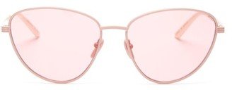 Gucci Cat-eye Metal Sunglasses - Pink