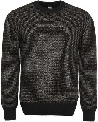 HUGO BOSS Crew-neck Wool-blend Sweater