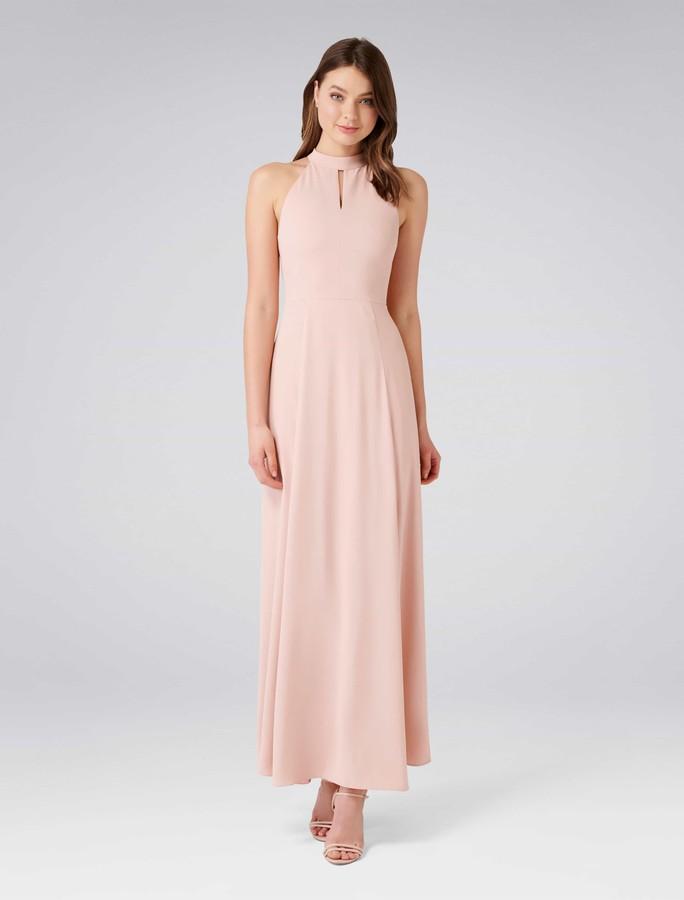 Forever New Paris Halterneck Maxi Dress - Whisper Rose - 4