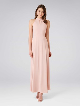 Forever New Paris Halterneck Maxi Dress - Whisper Rose - 4