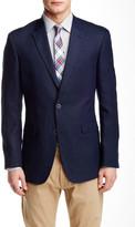 Tommy Hilfiger Navy Woven Two Button Notch Lapel Linen Jacket