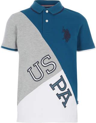 River Island Boys blue U.S. Polo Assn. polo shirt