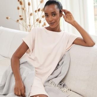 The White Company Jersey Sweatshirt Lounge Dress, Pale Pink, Extra Small