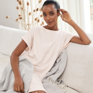 The White Company Jersey Sweatshirt Lounge Dress, Pale Pink, Small
