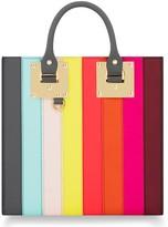 Sophie Hulme Rainbow Stripe Albion Leather Tote - Black