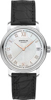 Montblanc 114366 Tradition stainless steel and leather watch