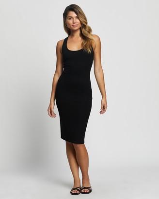 Atmos & Here Atmos&Here - Women's Black Midi Dresses - Elian Midi Dress - Size 6 at The Iconic