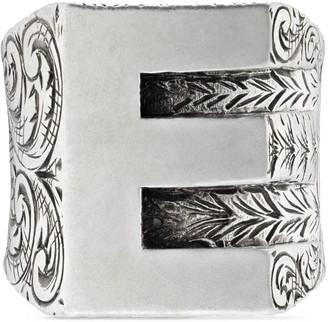 """Gucci """"E"""" letter ring in silver"""