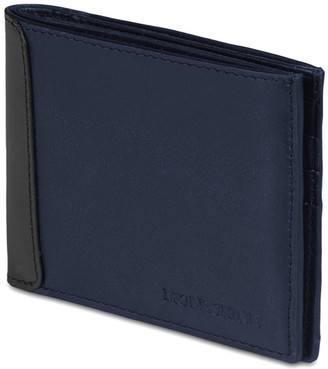 Moleskine Classic Navy Leather Horizontal Wallet