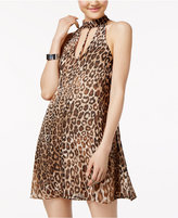 Speechless Juniors' Leopard-Print Shift Dress