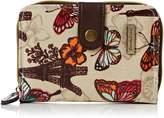Noel Paris Butterfly Floral Print in Small Folding Womens Wallet Purse - SWANKYSWANS
