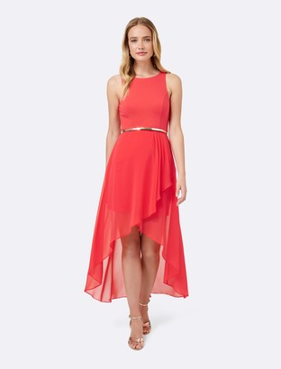 Forever New Danielle High-Low Dress - Hibiscus - 8