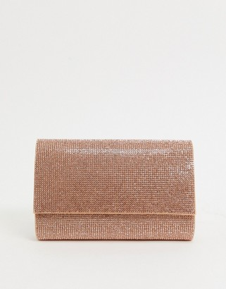 Aldo imnaha beaded stripe clutch bag in pink