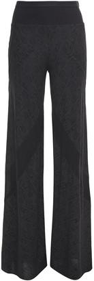 Rick Owens Lilies Metallic Jacquard-knit Wide-leg Pants