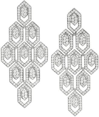 Bvlgari White Gold and Diamond Serpenti Seduttori Drop Earrings