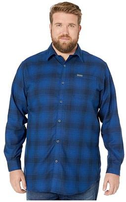 Columbia Big Tall Boulder Ridge Long Sleeve Flannel (Collegiate Navy Check) Men's Long Sleeve Button Up