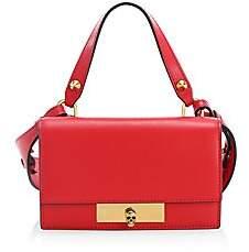 Alexander McQueen Women's Small Skull Lock Leather Top Handle Bag
