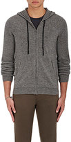 Barneys New York Men's Donegal-Effect Cashmere Hoodie-GREY