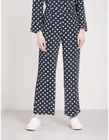 Claudie Pierlot Heart-print crepe trousers