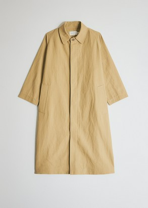 Mijeong Park Women's Linen Trench Jacket in Sand, Size Extra Small