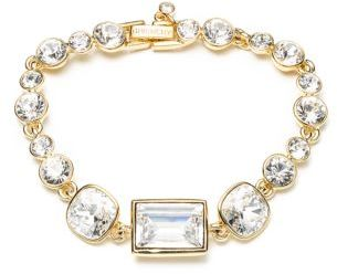 Givenchy Gold Tone and Crystal Flex Bracelet