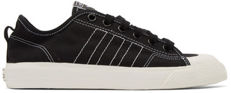 adidas Black and White Nizza RF Sneakers